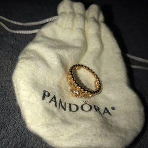 Gold Pandora (Authentic) Princess Ring